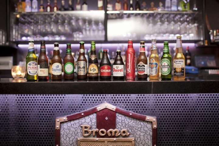 Imported drinks of Broma. Image: TripAdvisor.