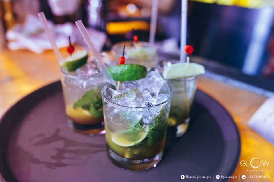 And so are their drinks. Glow Skybar Facebook.